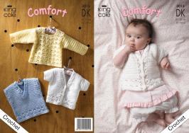 d4158fac5fc034 King Cole Pattern 3015 Crochet DK Sweater